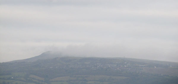 Clee Hill under cloud December