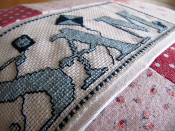patchwork cushion detail