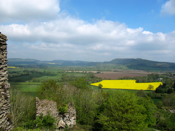 view from Wigmore Castle