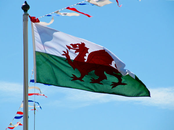 Welsh flag, Anglesey