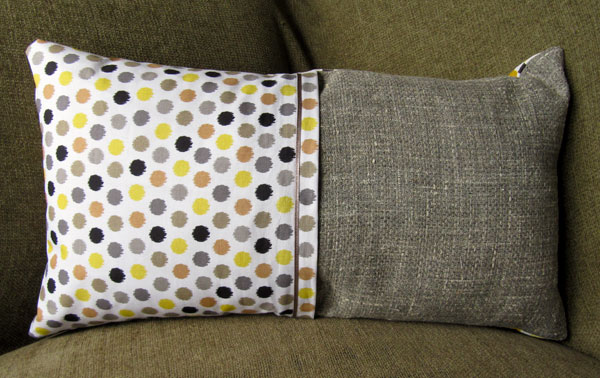 Hand made cushion - back