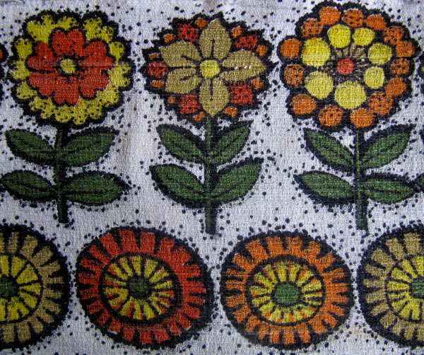 Vintage flowers barkcloth