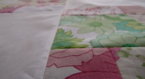 In the pink quilt top ~ detail