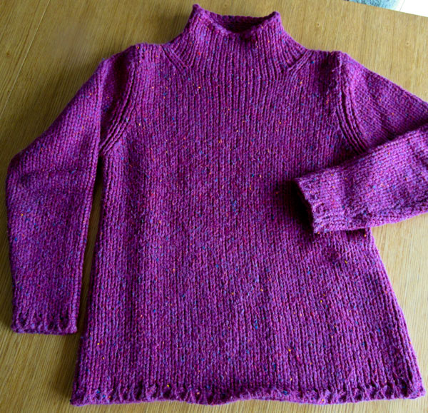 pink wool jumper
