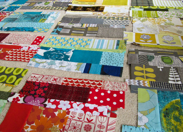making scrap quilt blocks