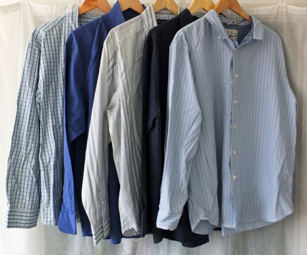 Five men's shirts
