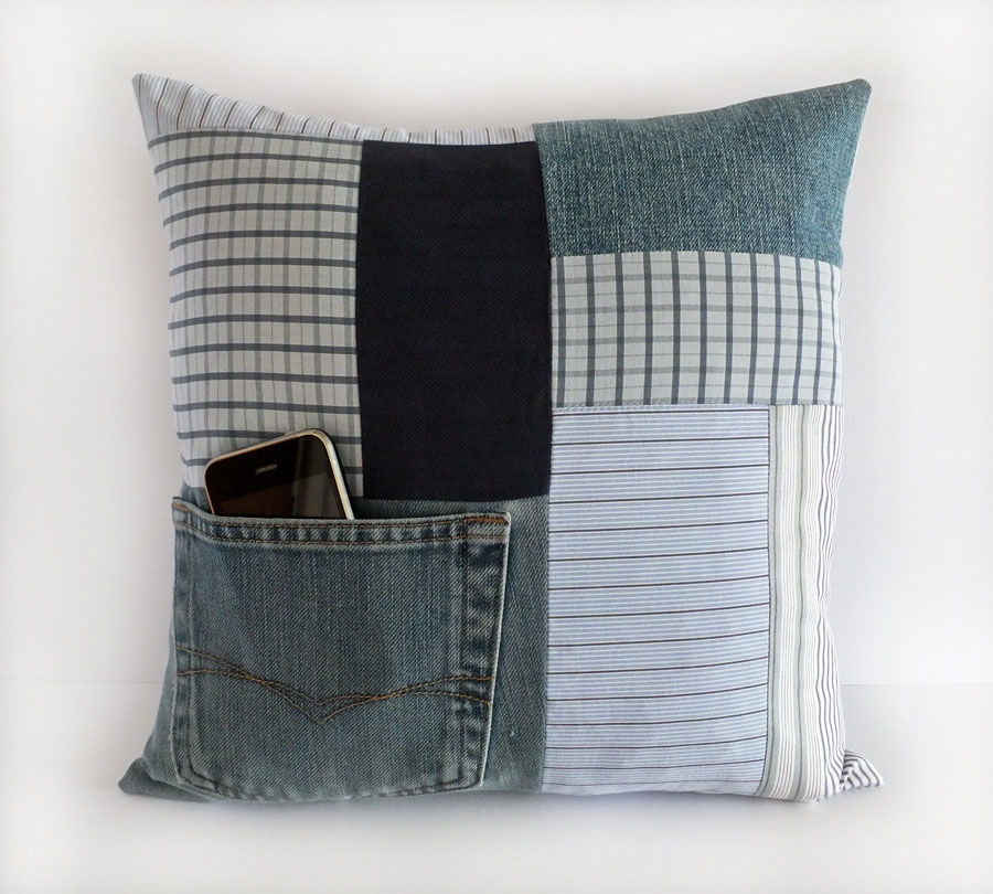 Men S Keepsake Cushion From 5 Shirts Memory Pillows